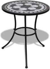Zwarte VidaXL Mozaïektafel 60 cm zwart/wit
