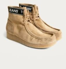 Beige Tommy Jeans Suede Wallaby Ankle Boots - Womens UK 6