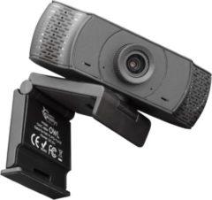 White Shark Owl Webcam Full HD 1080p met Microfoon - Draaibaar - Zwart