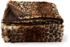 Bruine Essenza Bory Furry Plaid - 100% Polyester - 150x200 Cm - Brown