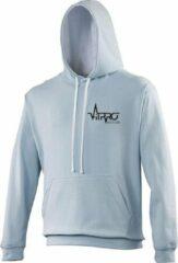 FitProWear Multicolour Hoodie Unisex - Lichtblauw / Wit - Maat XXL - Dames - Heren - Trui - Sporttrui - Sweater - Hoodie - Katoen / Polyester - Trui Capuchon - Sportkleding