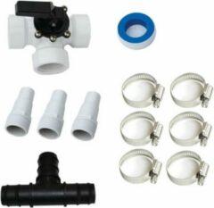 Bypass kit set zwembaden 32mm/38mm voor zwembadverwarming incl. 3weg kraan geschikt voor alle zwembaden. Tevens word er een GRATIS monster van EPDM solar4pool zwembad verwarming mee geleverd