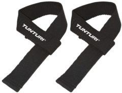 Zwarte Tunturi Powerlifting Straps - Deadlift Straps - Per Paar