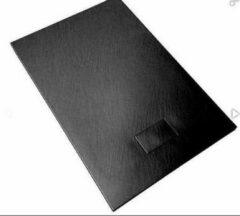 Antraciet-grijze Douchebak - ANTI SLIP - Aqualine - XXL 2000X900 - antraciet kleur - handig in te korten voor scheve hoeken