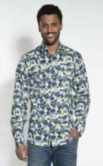 Groene Blue Industry Casual Overhemd Heren lange mouw