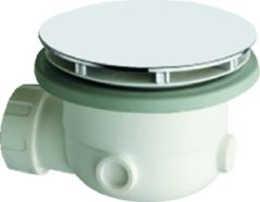 Wavedesign By Wisa sifon voor bad/douchebak, br 132mm, sifon kunststof verchroomd