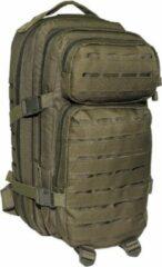 "Donkergroene MFH High Defence - US Army rugzak - Assault I - ""Laser"" - Legergroen"