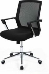 Merkloos / Sans marque MIRA Home - Bureaustoel volwassenen - Bureaustoel - Ergonomisch - Metaal - Zwart - 55x57x101.5