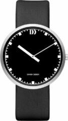Zilveren Danish Design watches edelstalen herenhorloge Long Hour Black Black IQ13Q1212