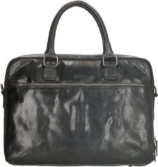 Old West Waco - Lederen laptoptas 15,6 inch - Zwart