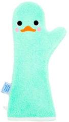 Groene Baby Shower Glove Shower Glove - Babywashandje - Little Swan - Mintgroen