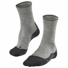 Falke - Women's TK2 Wool Silk - Wandelsokken maat 41-42, grijs/zwart