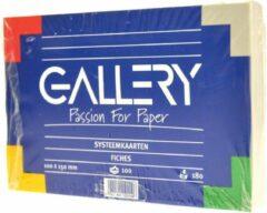 Gallery witte systeemkaarten formaat 10 x 15 cm effen pak van 100 stuks
