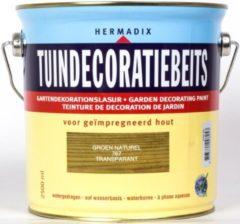 Groene Hermadix Tuindecoratiebeits Transparant - 2,5 liter - 767 Groen (naturel)