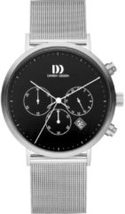 Zilveren Danish Design watches edelstalen herenhorloge Berlin Black Mesh IQ63Q1245