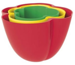 Zak!Designs Kitchen & Garden Serveerschaal - Paprika - Set van 3 Stuks - Assorti