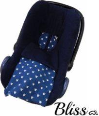 Blauwe Bliss Babydeken - Wikkeldeken - Omslagdoek - Wiegdeken - Dekentje - Kroontjes