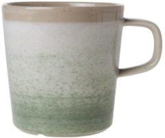 Beige Cosy&Trendy Destino Light groen Beker - Ø 9 cm x 9.5 cm - 38 cl - Set-6