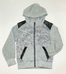 Licht-grijze S&C vest - met imitatieleren accenten - lichtgrijs - maat 110/116 ( 6 jaar)