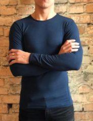 Donkerblauwe DICE Underwear DICE Longsleeve shirt ronde hals donker blauw maat XL