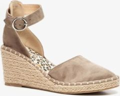 Blue Box dames espardrilles met sleehak - Beige - Maat 40
