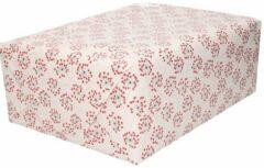 Bellatio Decorations Inpakpapier/cadeaupapier hartjes print 200 x 70 cm rol - Valentijnsdag kadopapier / cadeaupapier