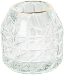 Waxinelichthouder | Ø 9*9 cm | Transparant | Glas | Clayre & Eef | 6GL2447