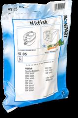 Bruine Elka Pieterman Nederland: Klein huishoudelijk / Reiniging / Verzorging Scanpart NI05 stofzuigerzak voor Nilfisk