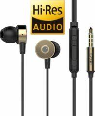 Tuddrom R4 Goud - Hi-Res Metalen In Ear Oordopjes met Microfoon - Titanium High Quality Dynamic Drivers - 2 Jaar Garantie