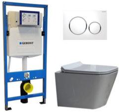 Douche Concurrent Geberit UP 320 Toiletset - Inbouw WC Hangtoilet Wandcloset - Alexandria Flatline Sigma-20 Wit