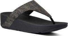 Zwarte FitFlop™ Lottie Glitter Stripe Toe-Thongs Polyester All Black - Maat 38