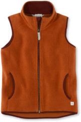 Hessnatur Kinder Fleece Weste aus Bio-Baumwolle – orange – Größe 134/140