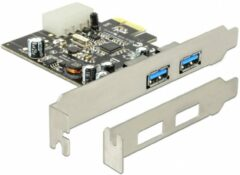 Zilveren DeLOCK USB 3.0 PCI Express Card USB 3.0 interfacekaart/-adapter