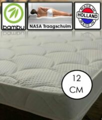Witte OmRa bedding scandic Bamboe Traagschuim - Nasa Topper - 12cm dik - 90x200cm
