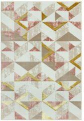 Eazy Living Easy Living - Orion-or010-Flag-Pink Vloerkleed - 200x290 cm - Rechthoekig - Laagpolig Tapijt - Retro, Scandinavisch - Meerkleurig