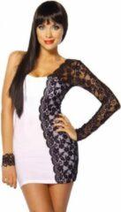 Atixo Mini jurk 12493 Wit/Zwart