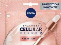 Witte 2X NIVEA VISAGE CELLULAR FILLER ELASTICITY SCULPTING TISSUE-MASKER