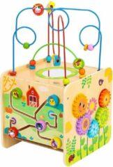 Gele Tooky Toy Kralenframe Boerderij Junior 33,5 Cm Hout