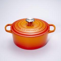 Le Creuset Gietijzeren ronde braadpan in Oranje-rood 26cm 5,3l