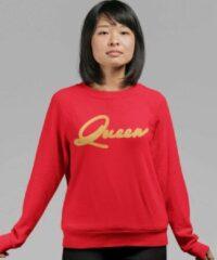 Rode B&C Collection King & Queen Trui Premium Red Gold (Queen - Maat XS)