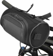 Telestore Fietstas stuurtas met smartphone houder – waterdicht – Fiets tas stuur – Smartphone houder fiets – T/M 6.2 inch - zwart