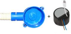Zwarte AquaSound mini adapter/lader met Micro-USB plug inclusief inbouwdoos