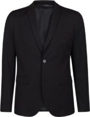 Zwarte WE Fashion Heren regular fit blazer Dali - Maat S (44)