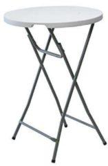 Merkloos / Sans marque Opklapbare statafel - wit blad - grijs, metalen onderstel - 80 x 110 cm