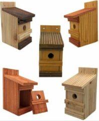 Rode Garden Spirit - Set van 5 Vogelhuisjes - Nestkastje tijdelijk met Vogelvoer om Vogels te lokken