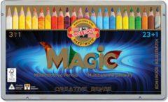 Koh-i-Noor Magic Jumbo kleurpotloden 23 kleuren + 1 blender