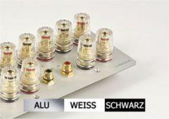 Lyndahl Highend Lautsprecherblende LKL005 für 5.1 Surround Lautsprecher Farbe: Silber