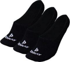 Donnay - Enkelsokjes - Footies - 3 Paar - Zwart - 39-42