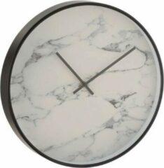 Witte Home & Deco Klok rond marmer - 40 cm