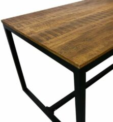 Zwarte Kick Collection Kick industrial eetkamertafel Square 200